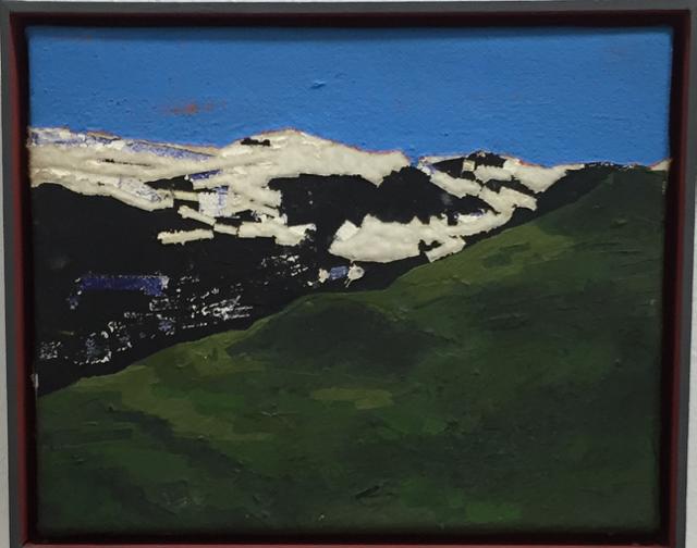 Naherholungsbild, 2012, Mischtechnik auf Leinwand, 24x30 cm