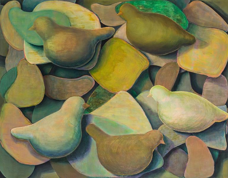 o.T. 2013, Öl u. Acryl auf Leinwand, 140x180 cm